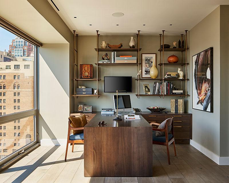 office rittenhouse condo by Shay Construction in Philadelphia