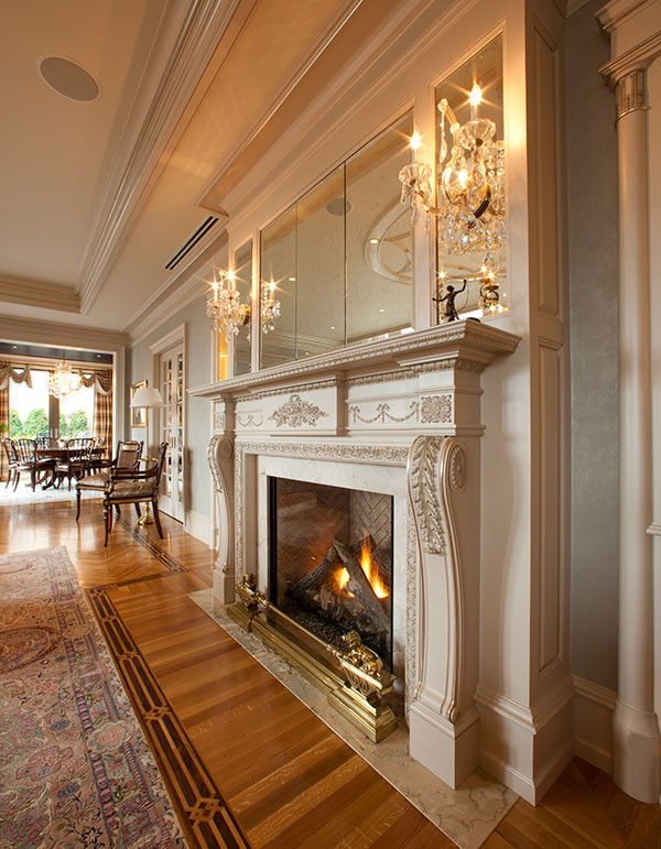fireplace rittenhouse square penthouse by shay construction